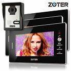 """ZOTER 7"""" Video Door Phone Intercom House Entry System with 3x Black LCD Monitor"""