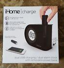 NEW iHome | Charge iH402B Dual USB charging Dual Alarm Clock