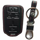 Rpkey Leather Keyless Entry Remote Control Key Fob Cover Case protector For 1500