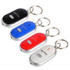 LED Anti-Lost Key Finder Locator Keychain Whistle Sound Control Keyring - White