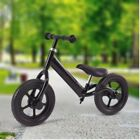 "12"" Durable Balance Train Bike Kids No-Pedal Learning Ride Bicycle Black US"