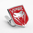 Red Metal Fang Angry Snake Grille Emblem Badge Mount For Dodge Viper Accessories