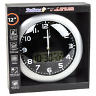 "Skyscan 27010B 12"" Atomic Wall Clock with Digital and Analog Display"