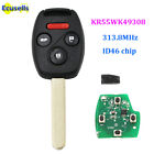 3+1 Buttons 313.8MHZ Remote Key Fob for Honda Accord Pilot FCCID: KR55WK49308