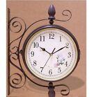 Antique European Style Wall Clock Both Side Watch Luxury Interior  Present r_u