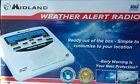 Midland Weather Alert Radio Alarm Clock All Hazard Tornado Hurricane WR120B NEW