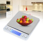 3000g/0.1g Digital LCD Scale with Stainless Steel Platform Kitchen Scale Gram