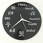 Wall Clock Math Formulas Acrylic Creative Coated Metal Home Decoration W