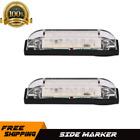 2pcs 4 inch 12V White 6LED Clear Lens Side Marker Sealed Lights Trailer Boat Bus