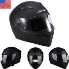DOT Dual Visor Flip Up Full Face Modular Motorcycle Bike Helmet Motocross M L XL