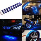 30CM 4PCS Blue LED Strip Light Flexible Tape DC 12V car outdoor lighting hr1