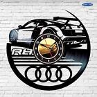 Audi R8 Logo Vinyl Dick Record Wall Clock Modern Car Art Gift for men and women