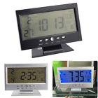LED Voice Control Alarm Desk Clock with Thermometer Digital Back-light Clocks