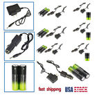 7X Battery Li-ion 18650 Rechargeable Battery For Headlamp Lamp+AC Car Charger Z1