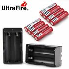 8PC BRC 4000mAh 18650 Battery Li-ion 3.7V Rechargeable Batteries 2pcs Charger