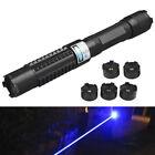 445nm Blue Laser Pointer Pen Adjsutable Focus Light Beam Lazer Torch +5 Star Cap