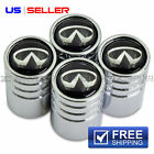 INFINITI VALVE STEM CAPS WHEEL TIRE CHROME - US SELLER VE14