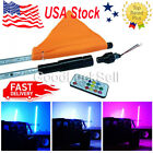 2Pcs 3 Feet Dream Color 300 LEDs Quick Connect Mount Flag Light Whip USA Ship