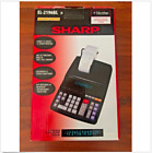 SHARP EL-2196BL Ribbon Printer w/Microban Protection Large 12-digit/2-color Calc