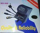Lo Of 5 Universal AC/DC Power Supply Wall Plug Adapter 1.5-12V 500mA