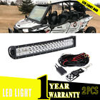 """120W LED Light Bar With Wiring Harness Kit 22"""" Fog Lamp CAN-AM COMMANDER 1000"""