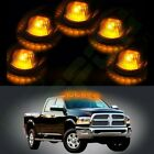 5X Cab Roof Marker Clearance Smoke Light w/ Amber Led For 80-97 Ford F-150/F-250