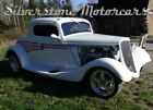 1934 Ford 3-Window  1934 3 Window White with Complementary Striping AC All Power Options