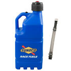 Sunoco Racing Blue 5 Gallon Race Utility Jug with Deluxe Filler Hose