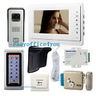 "7"" Security Video Intercom Doorbell Password Open Door & Electric Control Lock"