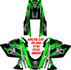 ARCTIC CAT ZR 200-  SNOWMOBILE GRAPHICS KIT 17-18,  FXV2 WRAP GREEN