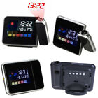 Projection Digital Weather LCD Snooze Alarm Clock Color Backlight LED Display