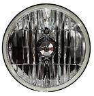 "7"" Headlight Crystal Clear - Front Bright Hot Rod Kustom Bar Vintage H4 Bulb"