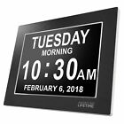 Premium Version - Day Clock - Extra Large Impaired Vision Digital Clock with