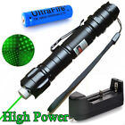 Military 10 Miles 532nm Green Laser Pointer Visible Beam 18650 Battery Star Cap