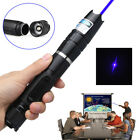 10 Mile Military Blue Light Laser Pointer Pen Strong Beam Adjustable Focus 445nm
