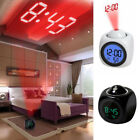 Multi-function Alarm Clock Digital LCD Voice Talking LED Projection Temperature