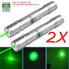 2PCS 50Miles 532nm 900 Green Laser Pointer Lazer Pen Beam Light  USA