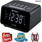 Emerson Dual Alarm Smart Set FM Clock Radio Auto DST Aux In USB Charging Home