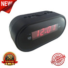 Digital LED Display AM FM Radio Dual Alarm Clock w/ Snooze and Dimmer Function