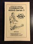 Operators Manual For Whites Coinmaster 4000/D Series 3 Metal Detector