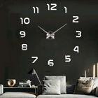 Fashion DIY Wall Clock 3D Mirror Effect Sticker Decal Removable Home Art Decor
