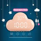 Cloud Shape II Digital Alarm LED Voice Control Clock Sound Calendar Snooze