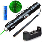 Military 10 Miles 532nm Green Laser Pointer Pen Visible Beam +Battery & Star Cap