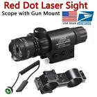 Tactical Red Dot Laser Sight Rifle Gun Scope Rail + Remote Switch For Hunting US