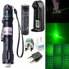 Military 5mw Green Laser Pointer Pen Light 532nm Visible Beam Zoom Focus Burning