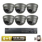 AM 8CH HDTVI DVR 1080P Sony CMOS CCD 4-in-1 AHD 2.6MP Security Camera X4%%
