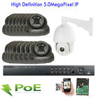 16Channel NVR 5MP 2592x1920P CCTV PTZ PoE IP ONVIF IP66 Security Camera 4TB HDD