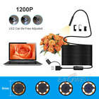 3 in 1 USB Type C Endoscope 8mm Inspection HD Camera For Android PC Borescope US