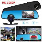 1080P HD1.3MP Webcam Car DVR Dual Lens Cameras Vehicle Rear Video Recorder