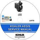 Kohler AEGIS LH775 Service Repair Manual CD